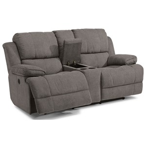 Flexsteel Latitudes-Simon Power Reclining Loveseat with Console
