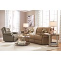 Flexsteel Latitudes - Skyler Contemporary Power Reclining Sofa with USB Charging Port