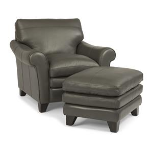 Flexsteel Latitudes-Sofia Chair and Ottoman Set