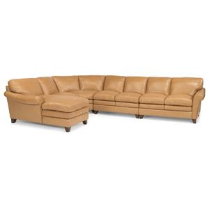 Flexsteel Latitudes-Sofia 5 Pc Sectional Sofa