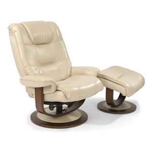 Flexsteel Latitudes-Spencer Spencer Reclining Chair and Ottoman Set