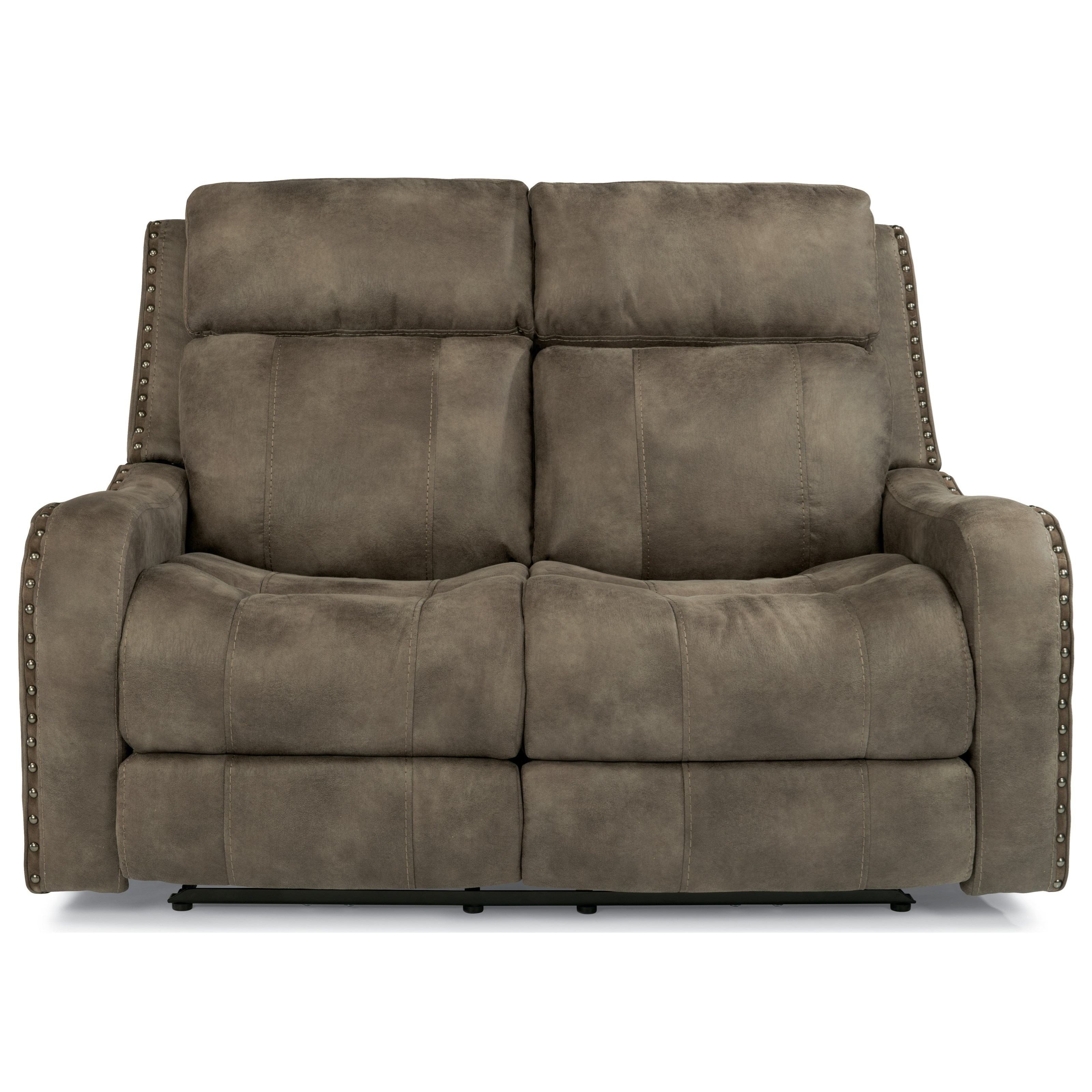 Flexsteel Latitudes-Springfield Pwr Rcl Loveseat w/ Pwr Headrest - Item Number: 1418-60PH
