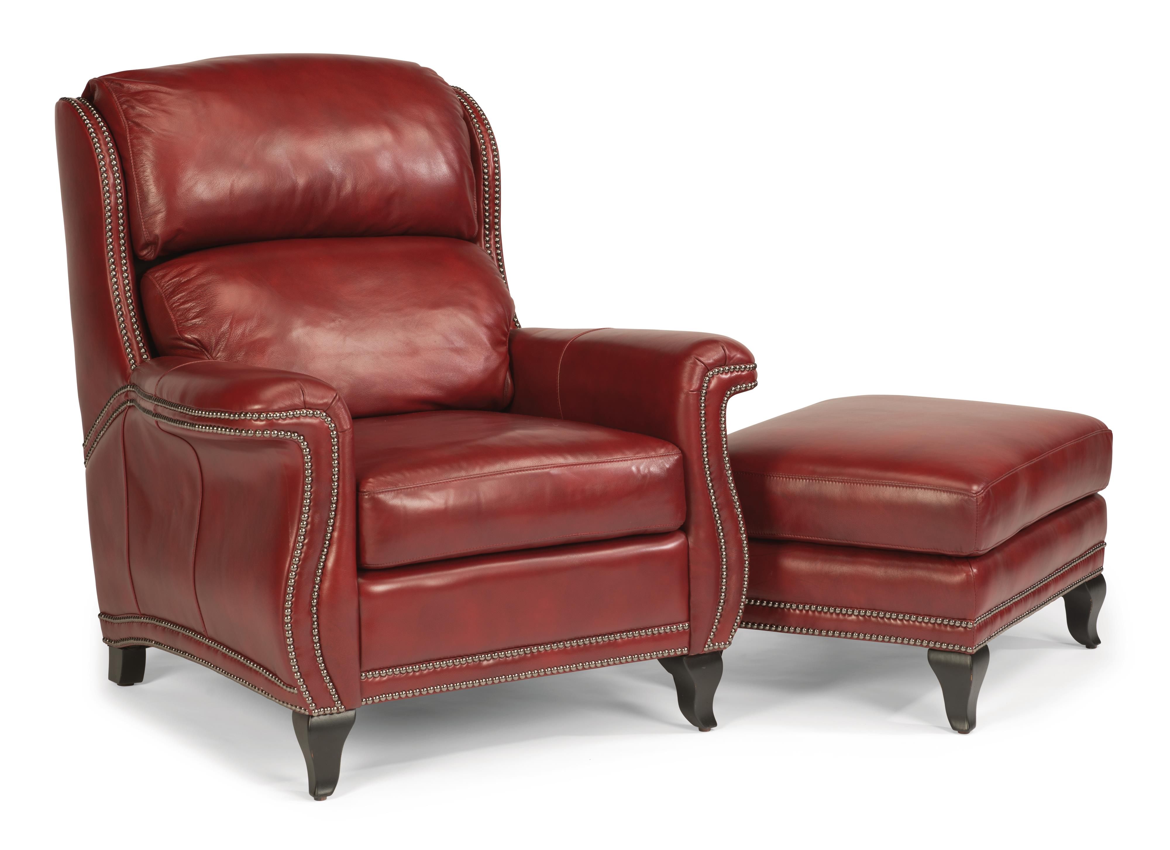 Flexsteel Latitudes-Sting Ray Chair & Ottoman Set - Item Number: 1256-10+1256-08-LSP-55