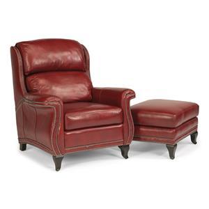 Flexsteel Latitudes-Sting Ray Chair & Ottoman Set
