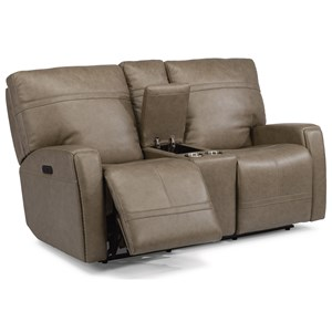 Flexsteel Latitudes - Talbert Power Reclining Love Seat with Console