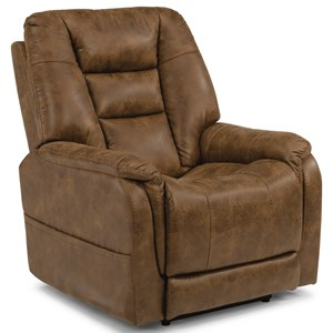 Flexsteel Latitudes-Theo Power Recliner with Power Headrest
