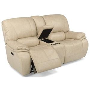 Flexsteel Latitudes-Tobin Power Reclining Love Seat w/ Power Headrest