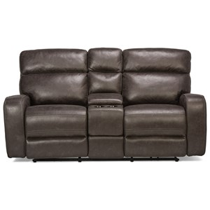 Power Reclining Loveseat with Cupholders and Adjustable Headrests