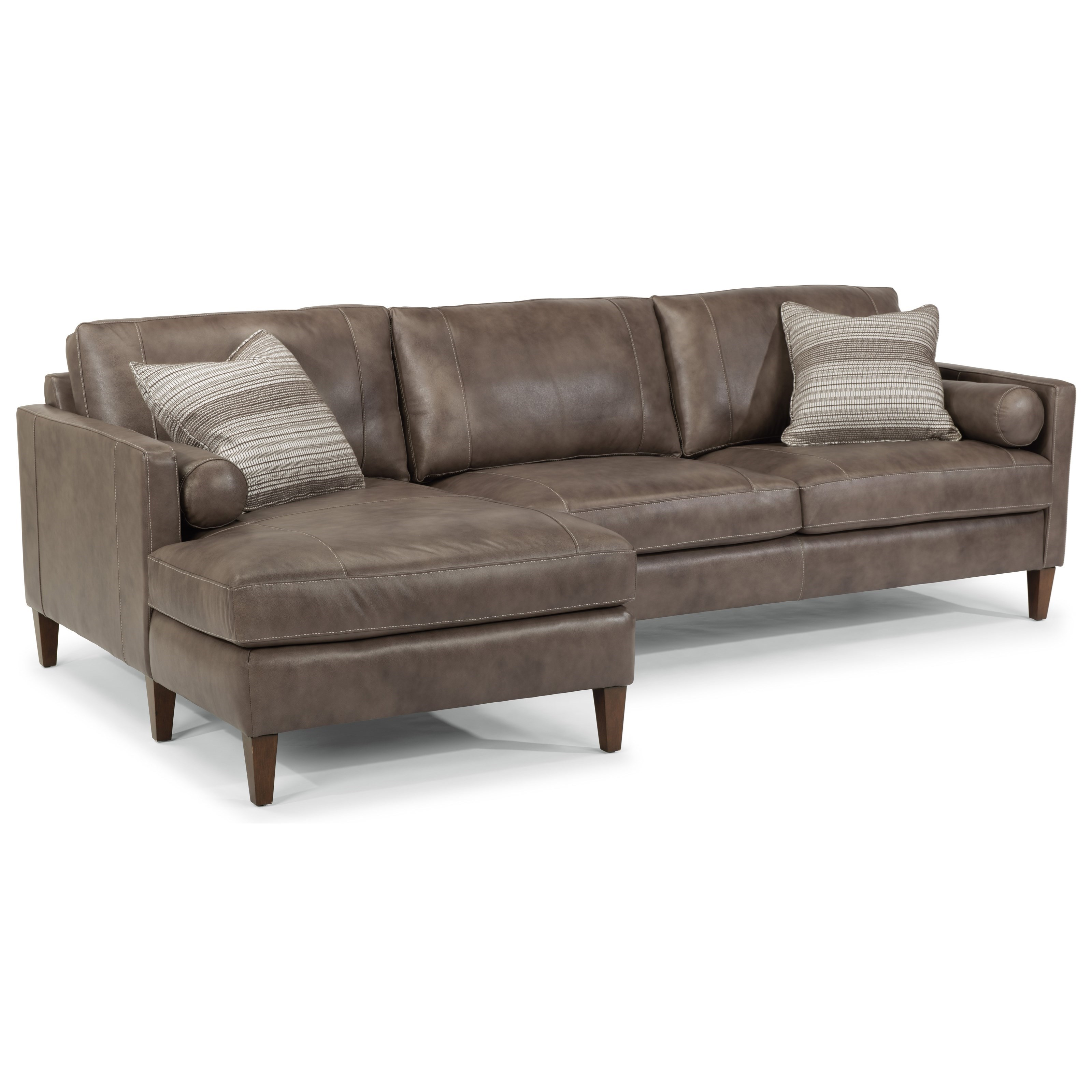 Flexsteel Latitudes-Vivian Sectional with Left Arm Facing Chaise - Item Number: 1195-25+28-474-82