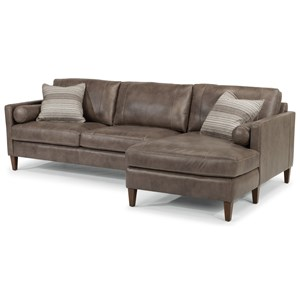 Flexsteel Latitudes-Vivian Sectional with Right Arm Facing Chaise