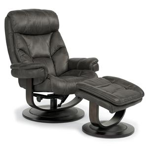 Flexsteel Latitudes-West Reclining Chair and Ottoman Set