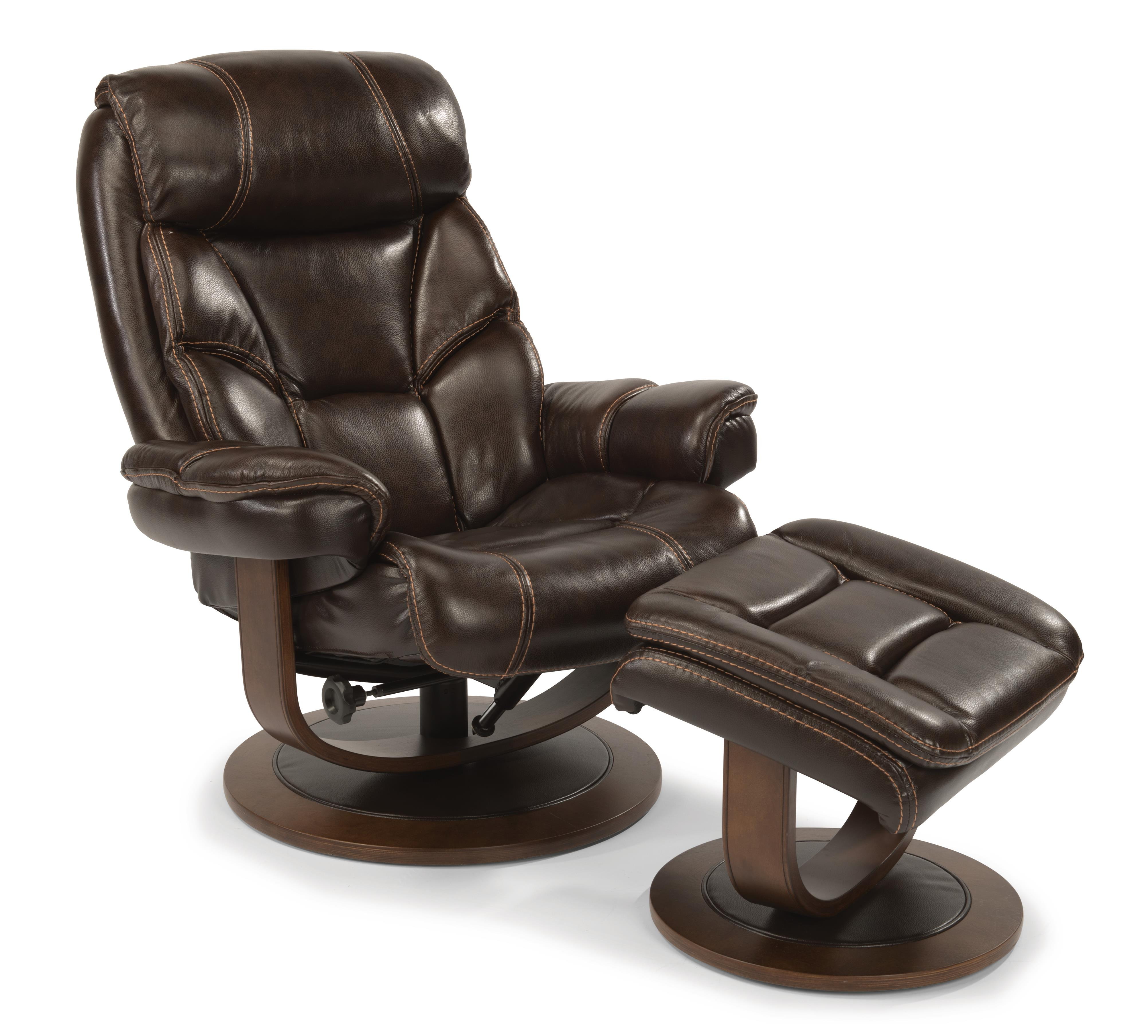 Flexsteel Latitudes-West Reclining Chair and Ottoman Set - Item Number: 1453-CO-585-70