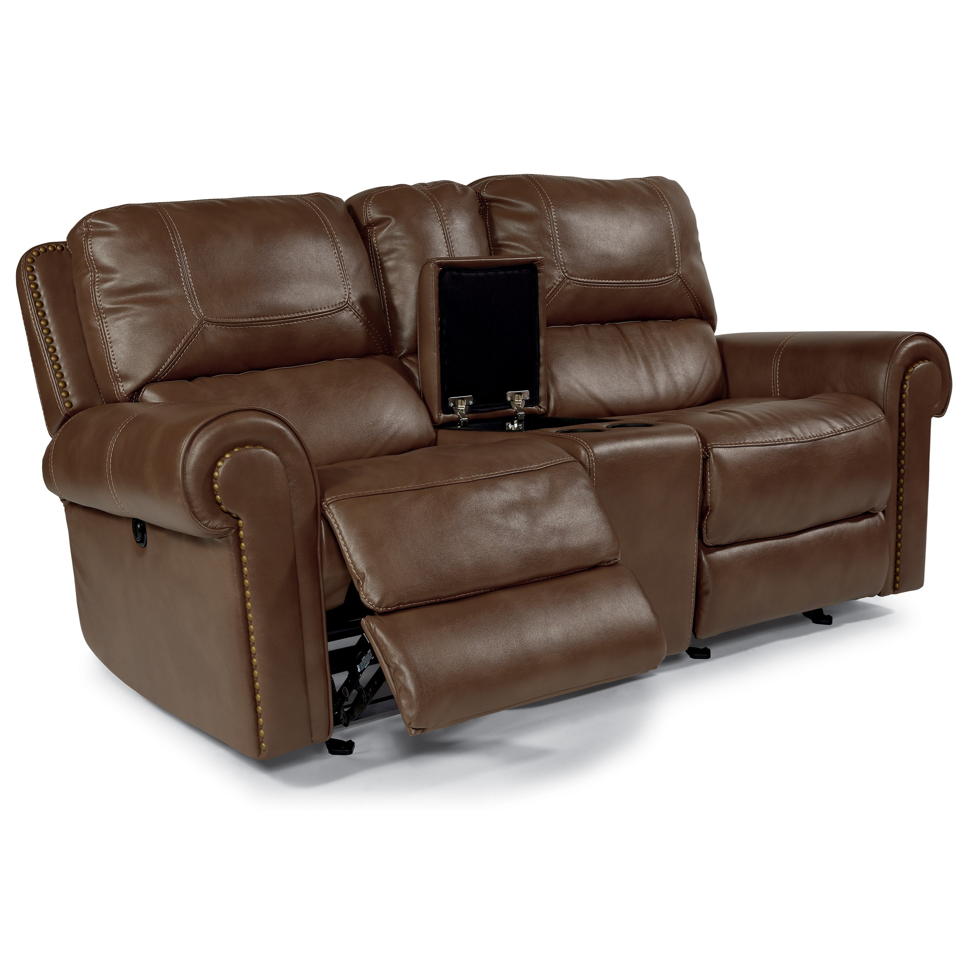 Power Reclining Love Seat with Console