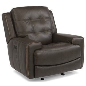 Flexsteel Latitudes-Wicklow Power Gliding Recliner with Power Headrest