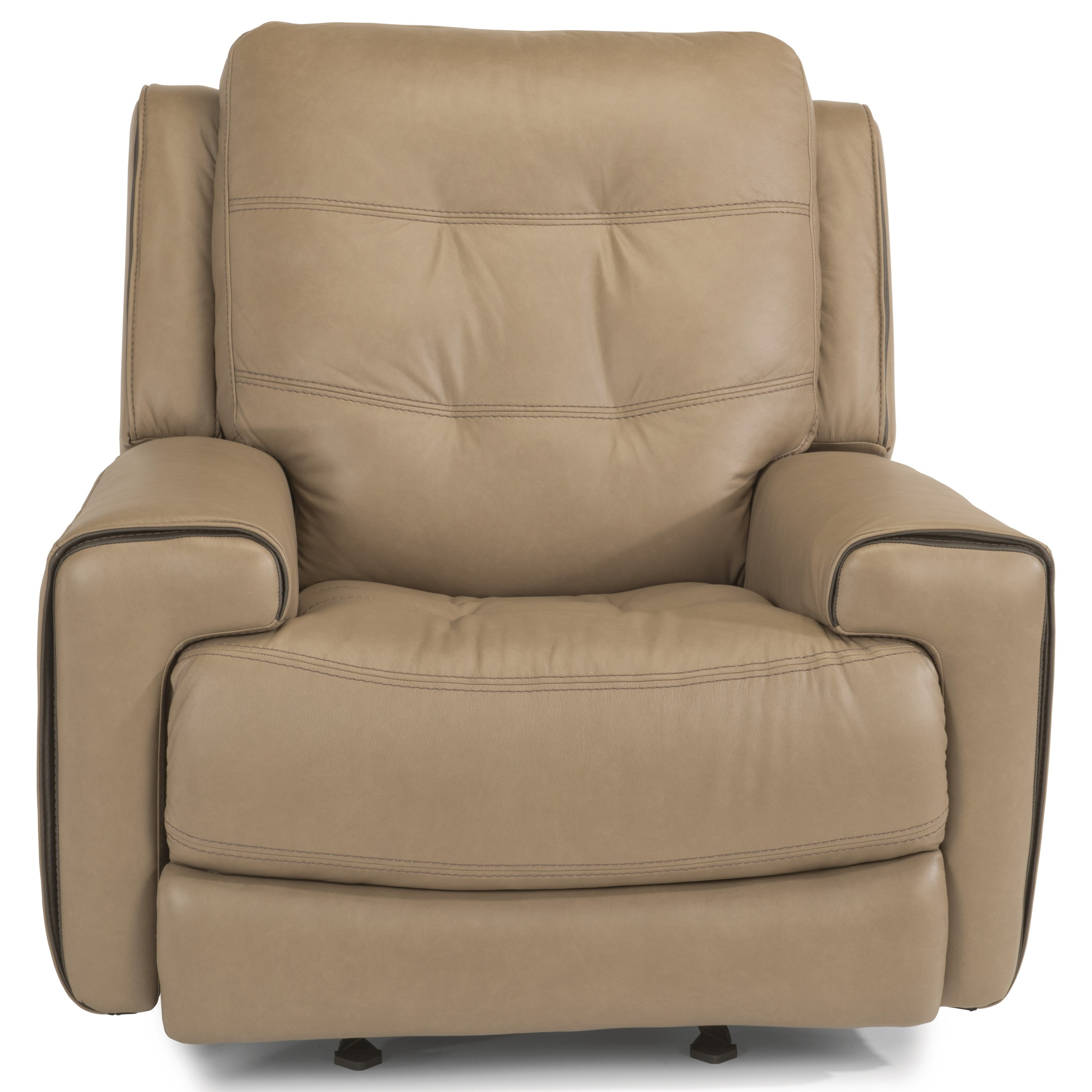 Latitudes-Wicklow PWR Gliding Leather Recliner w/PWR Headrest by Flexsteel at Walker's Furniture