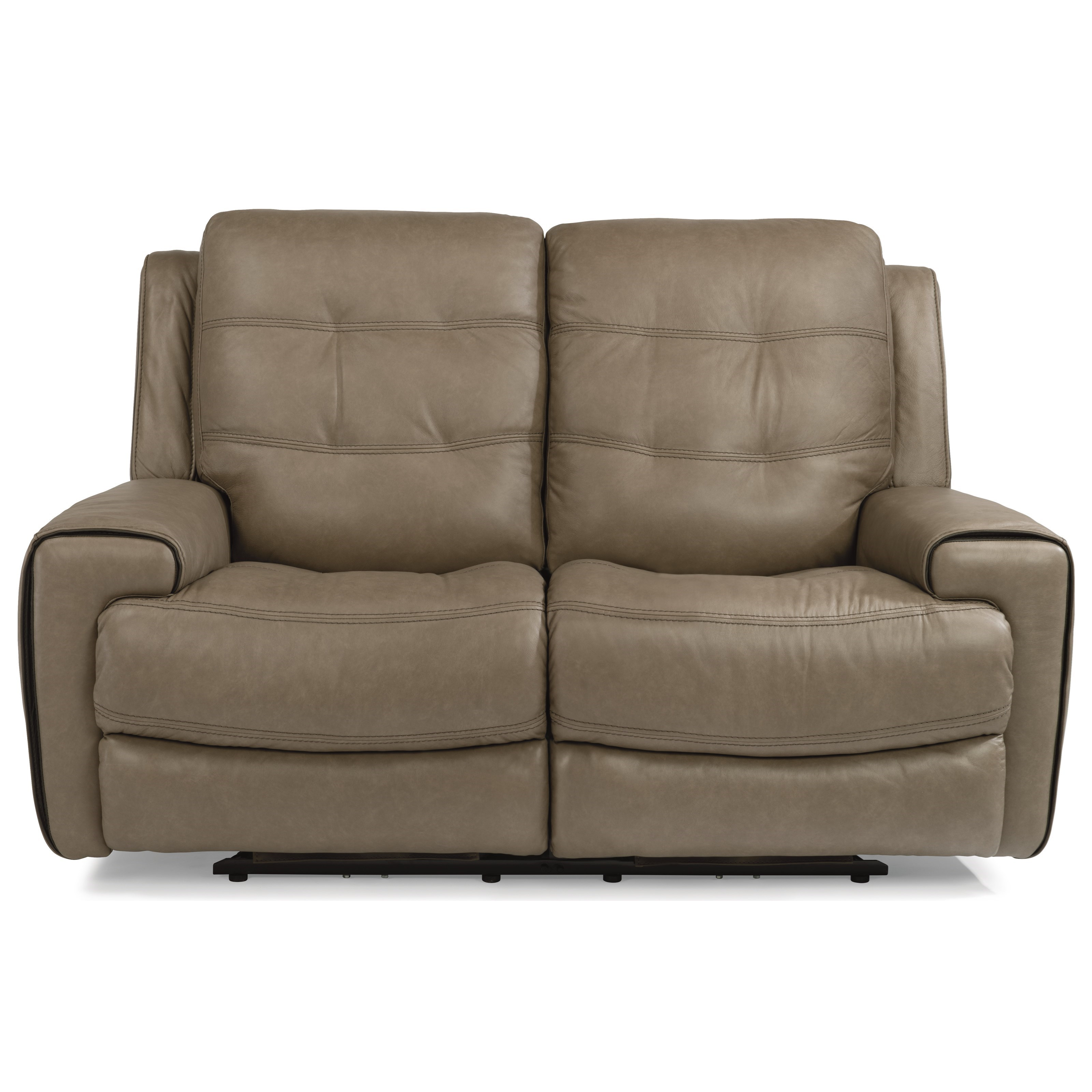 Latitudes-Wicklow PWR Reclining Leather Sofa w/ PWR Headrest by Flexsteel at Walker's Furniture