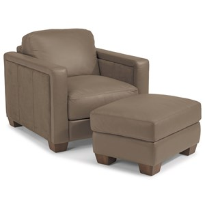 Flexsteel Latitudes-Wyman Chair and Ottoman Set