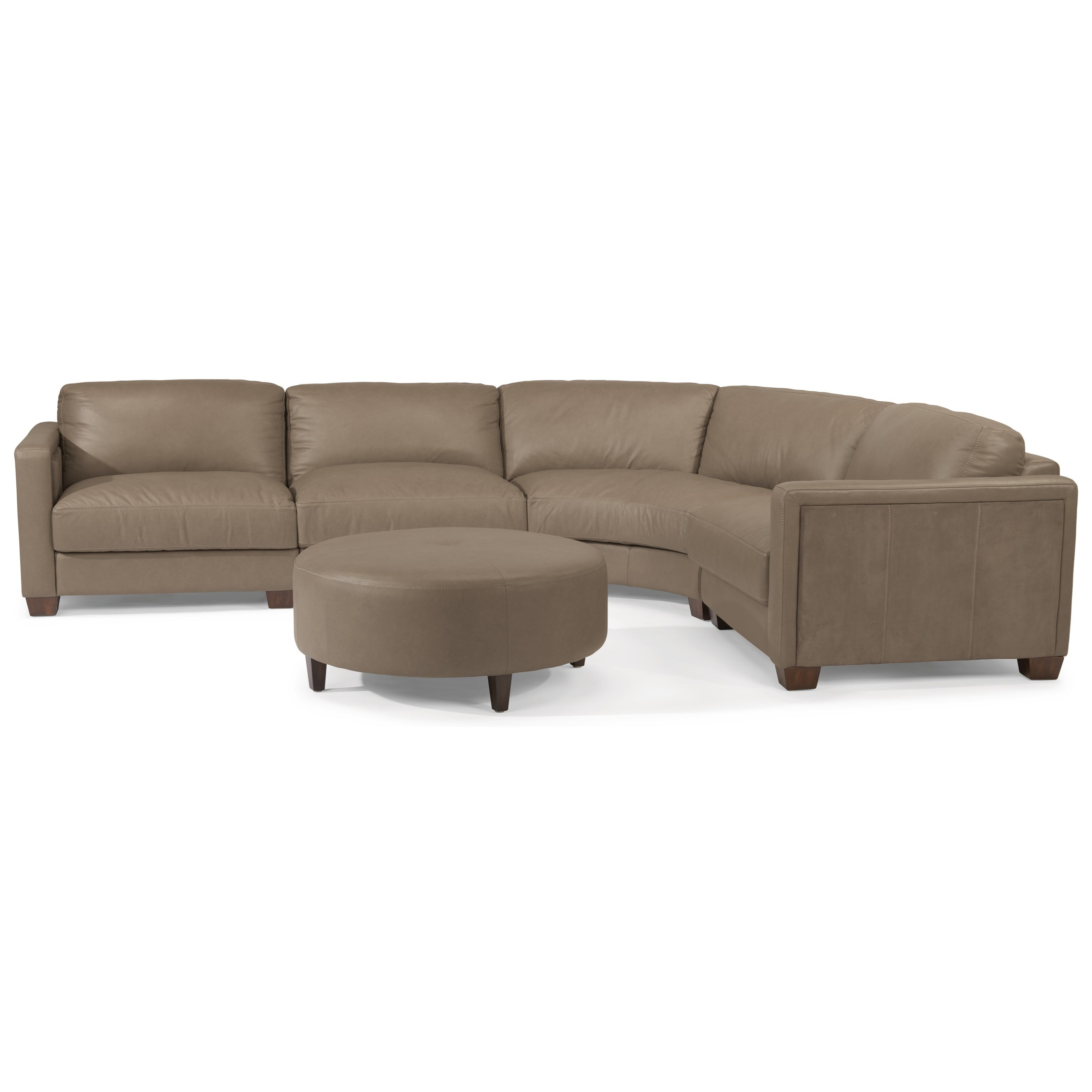 Flexsteel Latitudes Wyman Contemporary 5 Seat Rounded Sectional