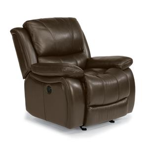 Flexsteel Latitudes-Zandra Lay Flat Power Glider Recliner