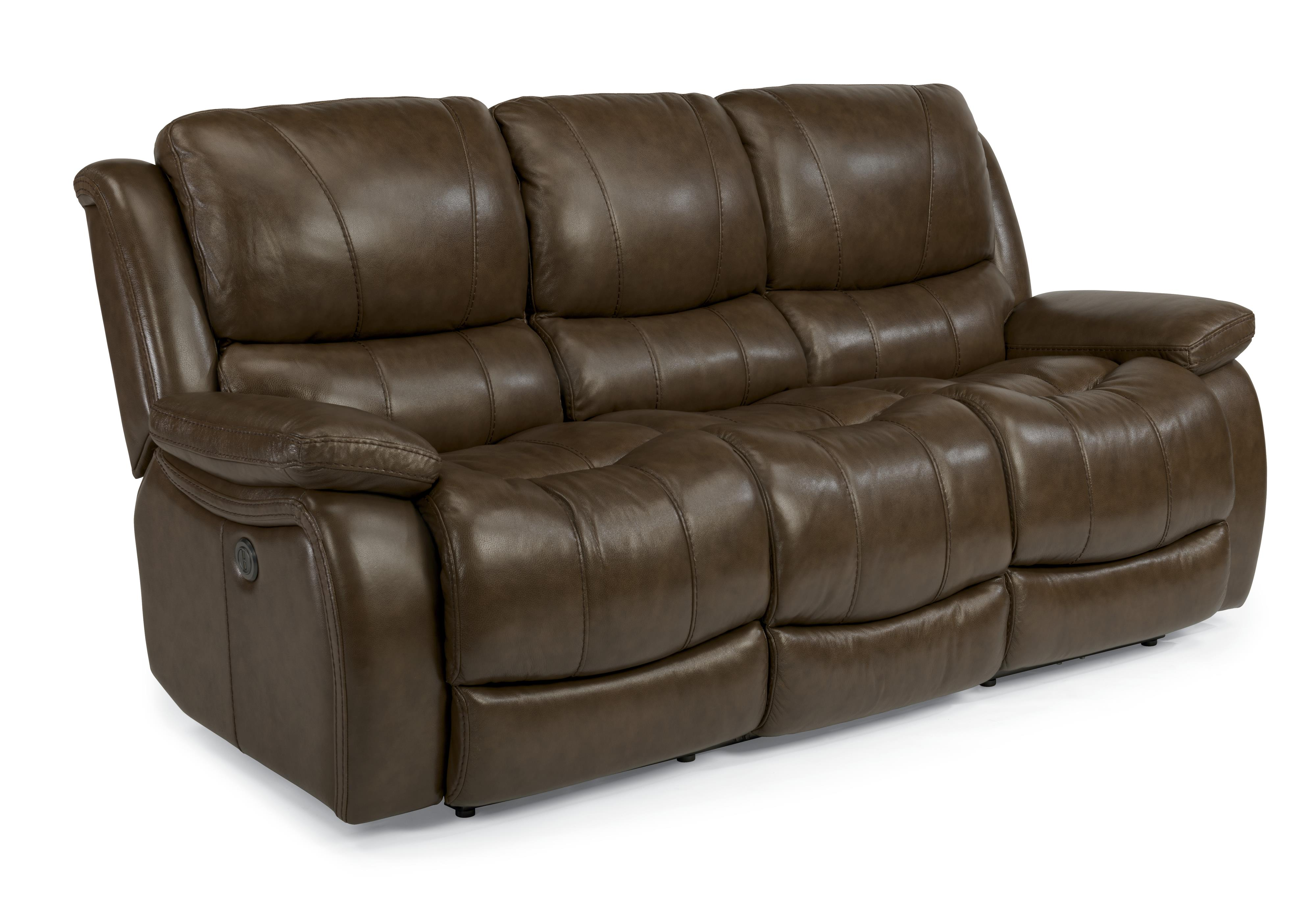 Flexsteel Latitudes-Zandra Lay Flat Power Reclining Sofa - Item Number: 1343-62P-034-74