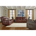 Flexsteel Latitudes-Zara Power Reclining Loveseat with Console and Power Headrests