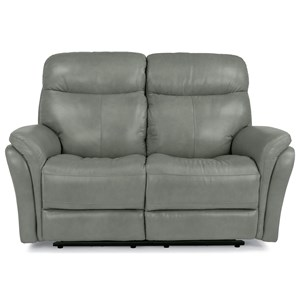 Flexsteel Latitudes-Zoey Power Reclining Love Seat w/ Power Headrest