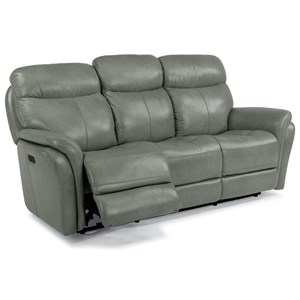 Flexsteel Latitudes-Zoey Power Reclining Sofa with Power Headrest