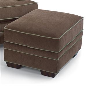 Flexsteel Lehigh Sofa With Rolled Arms And Tapered Wood