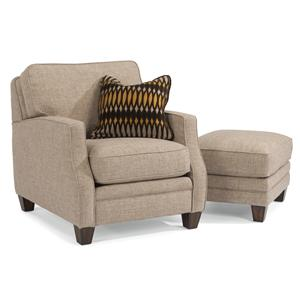 Flexsteel Lenox Chair & Ottoman Set