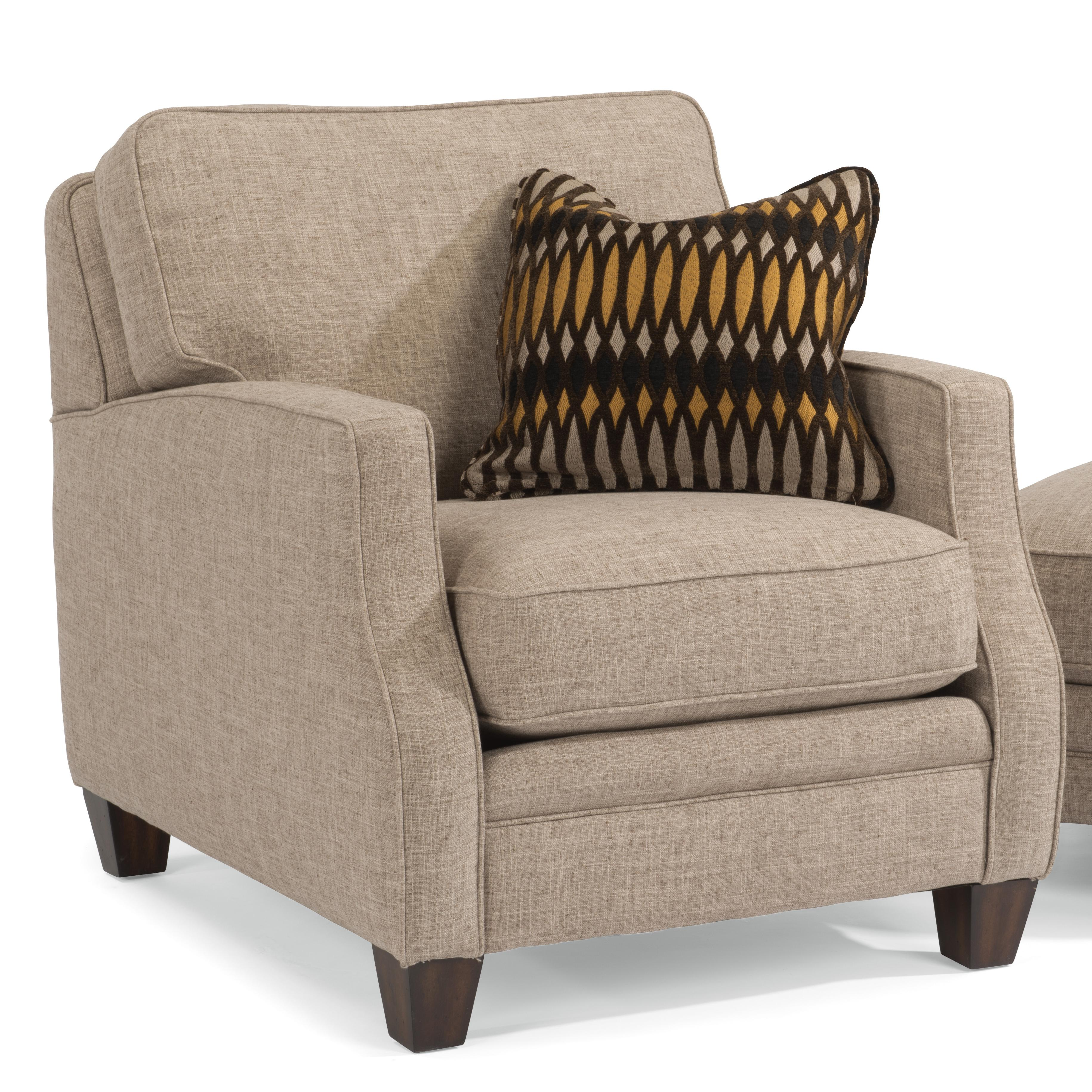 Flexsteel Lenox Transitional Chair With Scalloped Arms