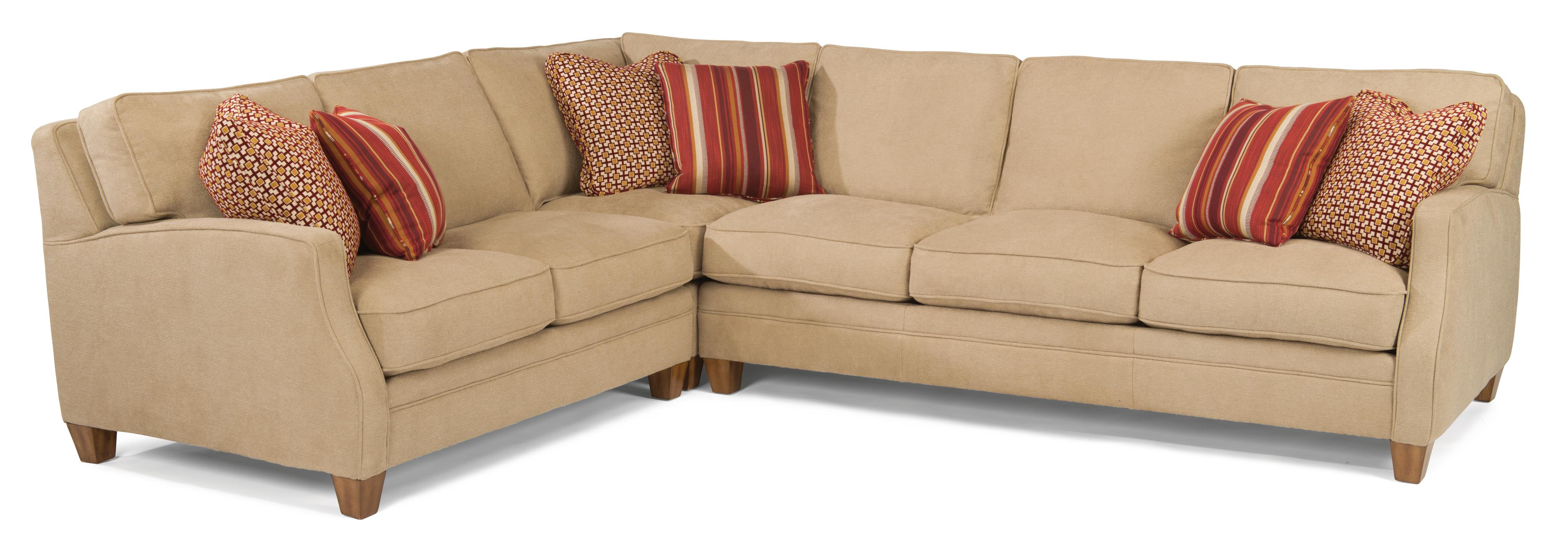 Flexsteel Lenox 3 Pc Sectional Sofa - Item Number: 7564-27+7654-231+7564-38-922-80