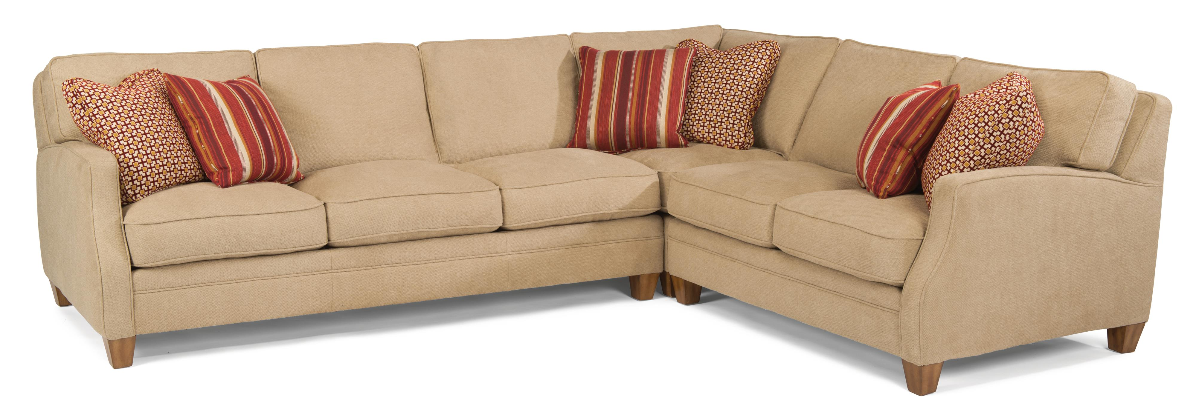 sectional dempsey flexsteel with trim threshold laf item height width pc piece products sofa contemporary