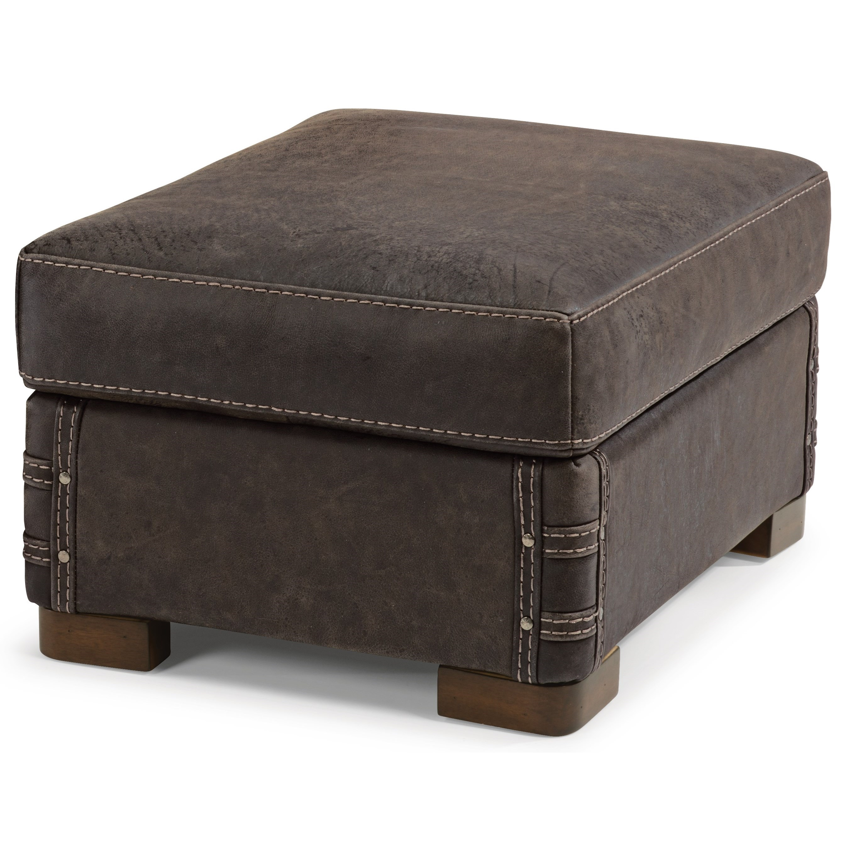Flexsteel Latitudes Lomax Rustic Leather Chair And