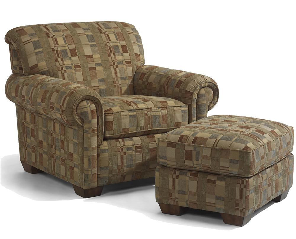 Flexsteel Main Street Chair and Ottoman - Item Number: 5988-10-08