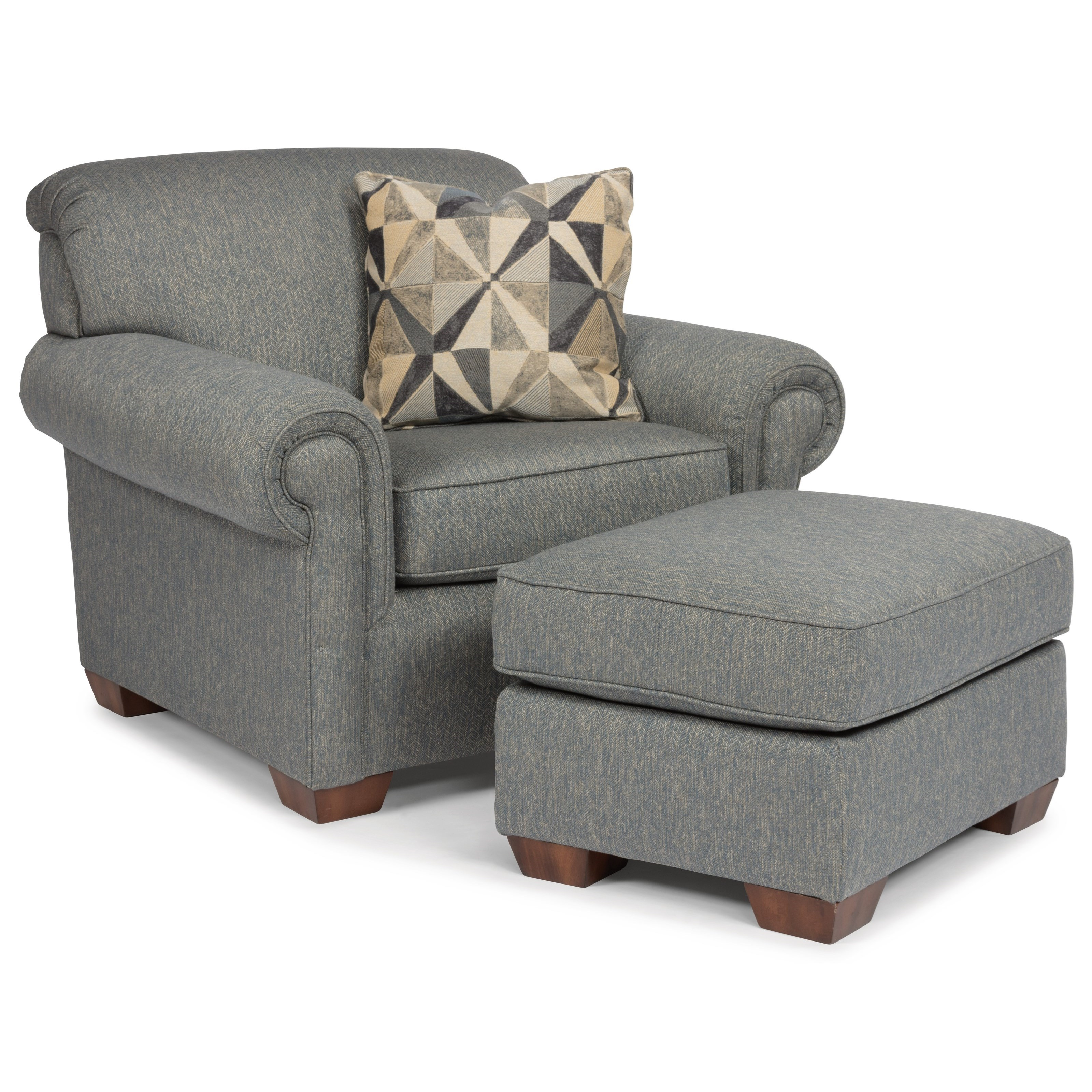 Main Street Chair and Ottoman by Flexsteel at Mueller Furniture