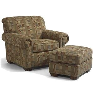 Flexsteel Main Street Chair and Ottoman