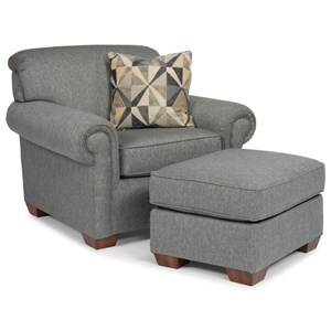 Traditional Chair with Ottoman