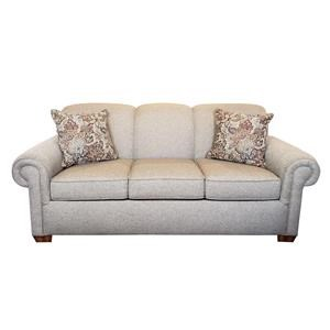 Stationary Sofa with Rolled Arms