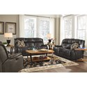 Flexsteel Marcus Reclining Living Room Group - Item Number: 2849 Living Room Group 1