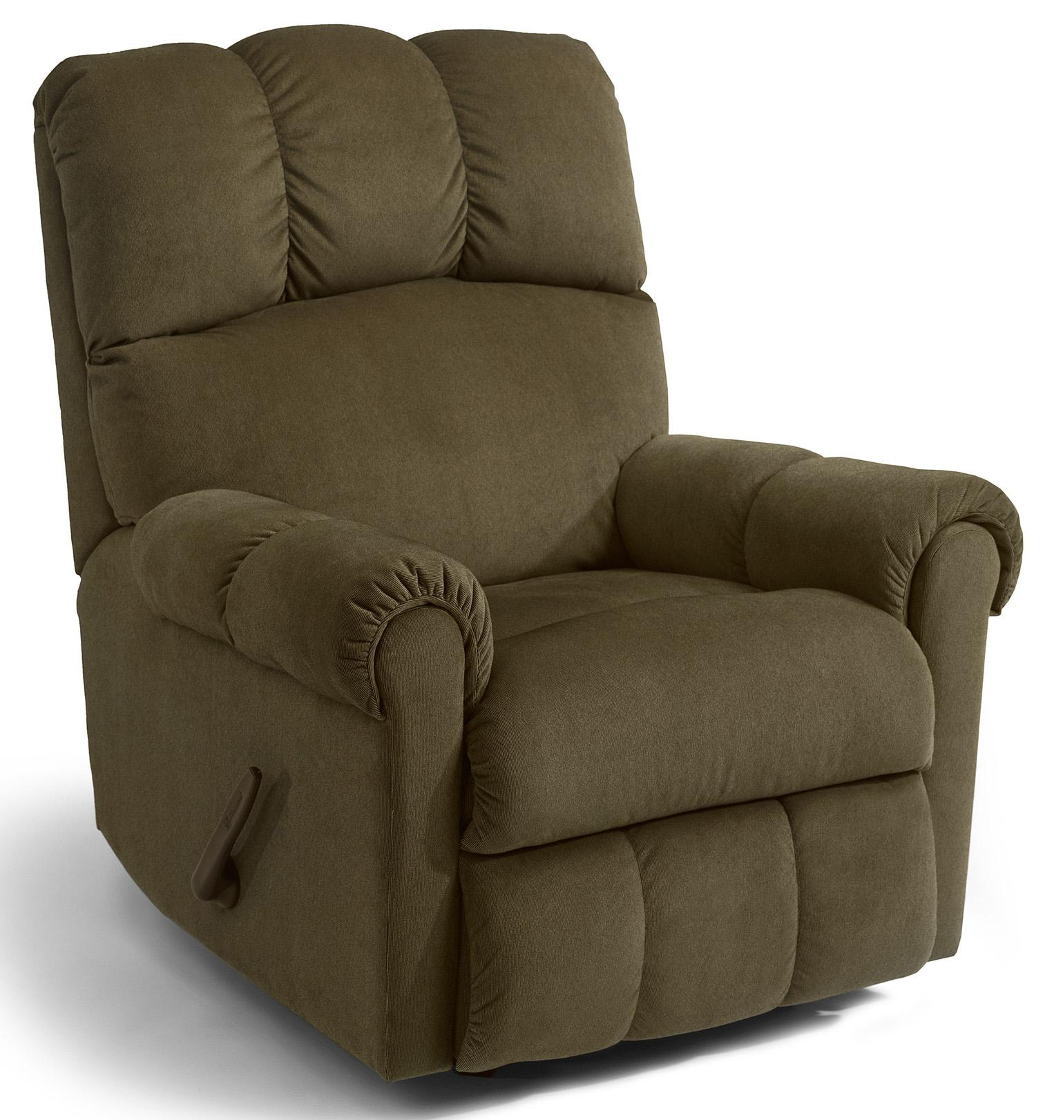 Flexsteel Mcgee 2840 53 Casual Swivel Glider Recliner With