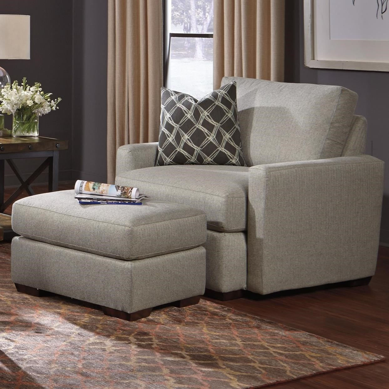 Flexsteel Michelle Chair and Ottoman - Item Number: 7906-10+08 02