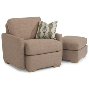 Flexsteel Michelle Chair and Ottoman