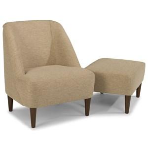 Flexsteel Molly Chair and Ottoman Set