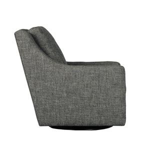 Casual Contemporary Swivel Chair with Loose-Pillow Back