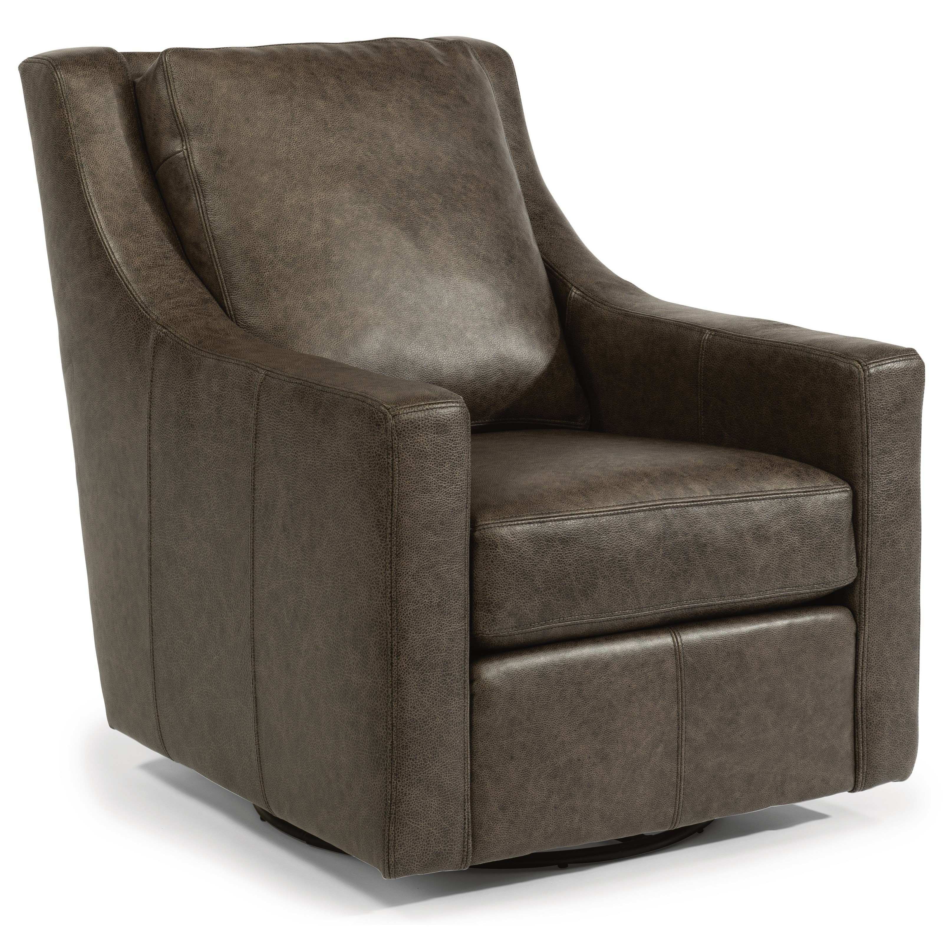Flexsteel Murph Casual Contemporary Swivel Chair with Loose ...