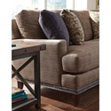 Flexsteel Ocean Two Seat Sofa with Nailheads