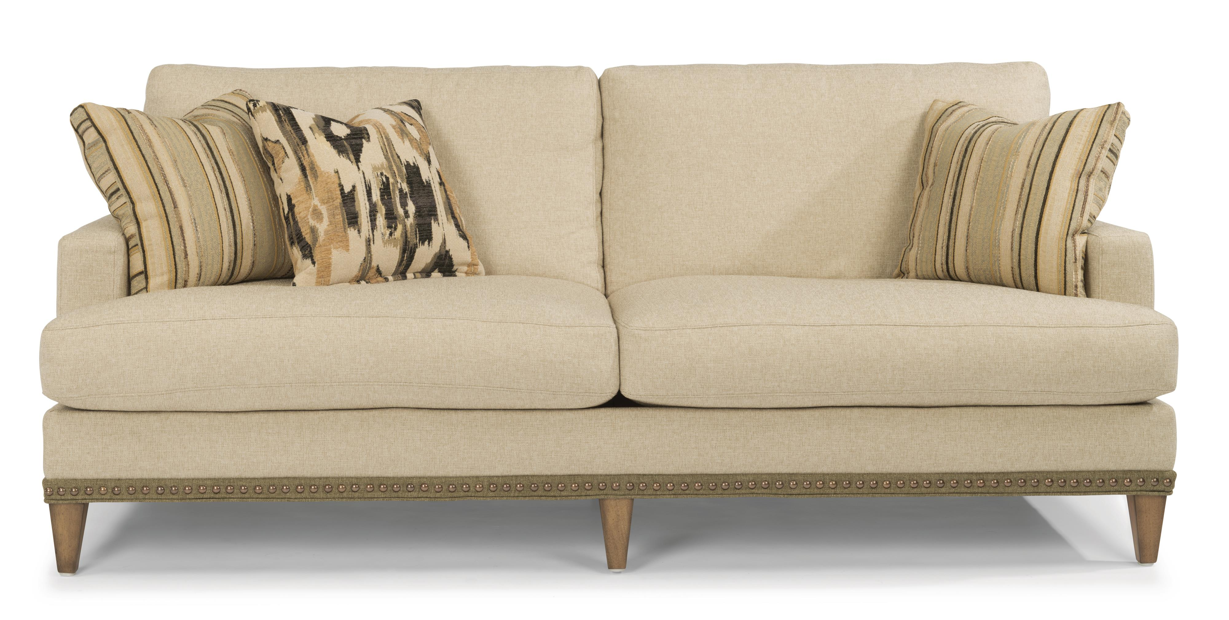 Flexsteel Ocean Sofa w/ Nails - Item Number: 7367-31-143-80