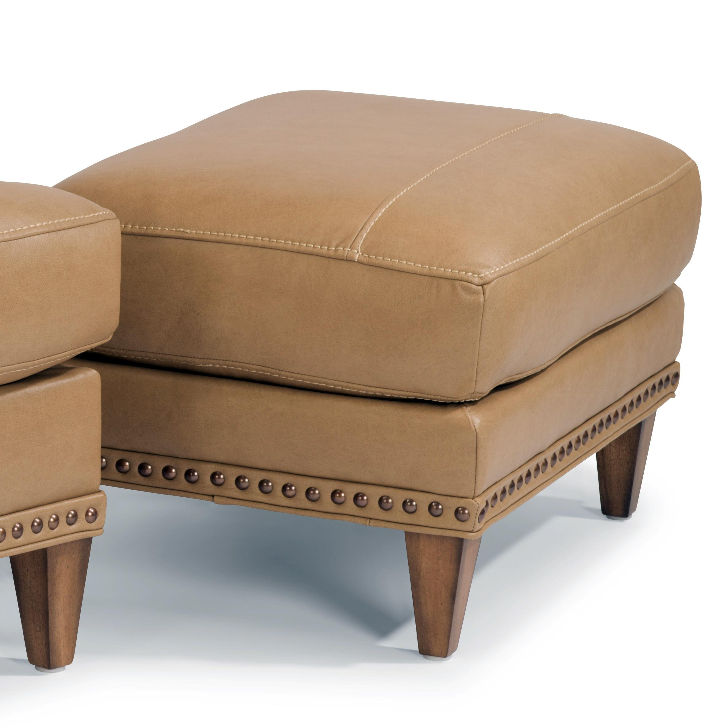 Flexsteel Ocean Ottoman w/ Nails - Item Number: B3367-08-174-80