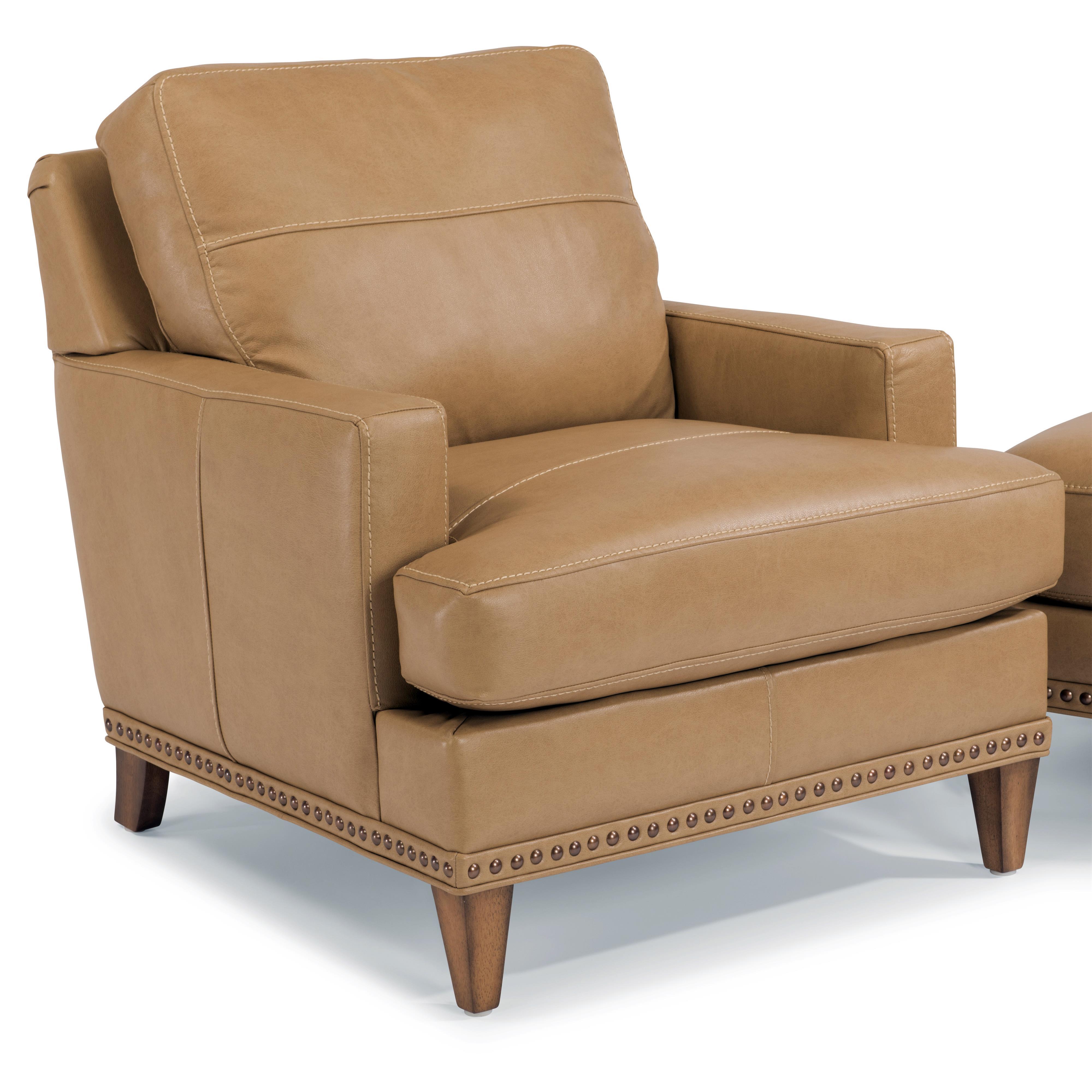 Flexsteel Ocean Chair w/ Nails - Item Number: B3367-10-174-80