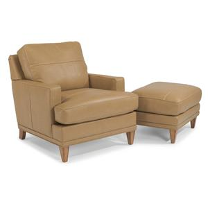 Flexsteel Ocean Chair & Ottoman Set (No Nails)